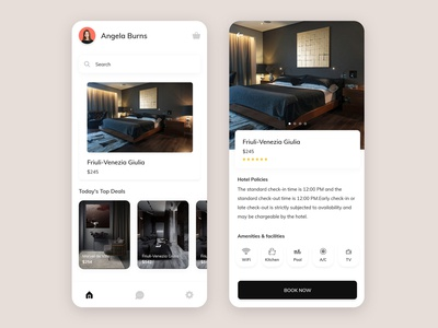 Hotel Booking App airbnb iphone ux mobile animation splash home ui design app booking hotel