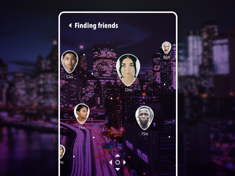 Daily UI #020 - Location Tracker dark website web daily ui responsive app mobile augmented reality ar ux ui design