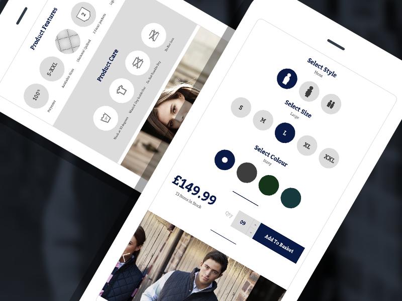 Product Mobile design website development ecommerce responsive eccemedia product ui ux