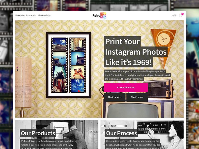RetroLab photo responsive canvas print retro instagram ecce media