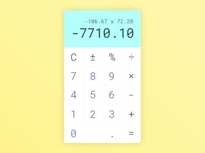Daily UI #004 - Calculator ux form web app eccemedia daily ui simple numbers calculator