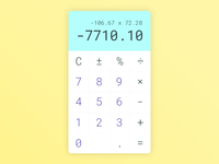 Daily UI #004 - Calculator