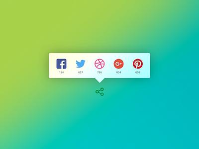 Daily UI #010 - Social Share app ui daily ui eccemedia web ux share pintrest google twitter facebook social