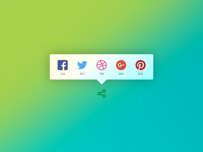 Daily UI #010 - Social Share