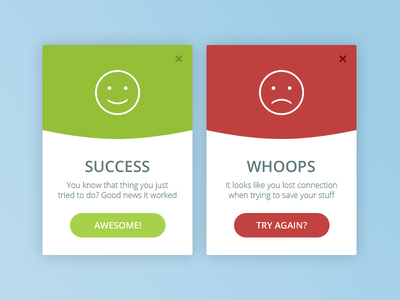 Daily UI #011 - Error/Success popup message error sucess ux web eccemedia daily ui ui app