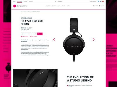 Daily UI #012 - Ecommerce Product Page headphones audio responsive ecommerce app ui daily ui eccemedia web ux