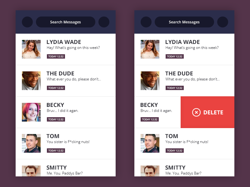 Daily UI #013 - Direct Messaging direct message chat chat app ux web eccemedia daily ui ui app