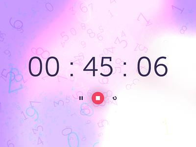 Daily UI #014 - Countdown blur brush numbers timer countdown app ui daily ui eccemedia web ux