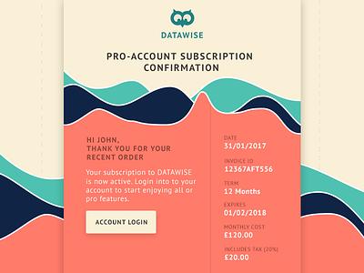 Daily UI #017 - Email Receipt receipt email receipt ux form web app eccemedia daily ui email data chart owl