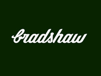 Bradshaw hand lettering typography logo lettering