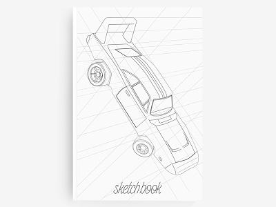 Sketchbook sketching lettering 3d