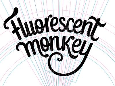 Fluorescent Monkey, process view custom type logo typography logo