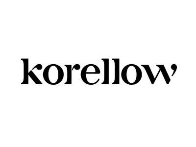 Korellow logo design tropical design didone typography logotype