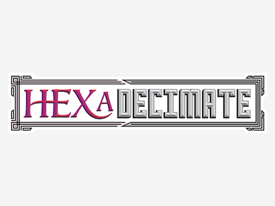 HEXaDecimate Logo card game logotype design logo