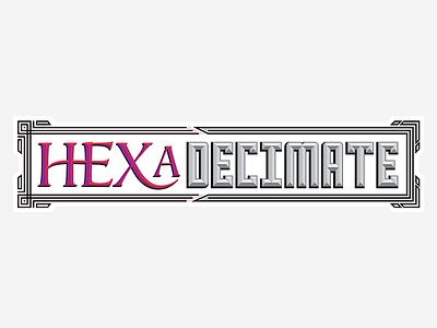 HEXaDecimate Logo card game logotype design logo
