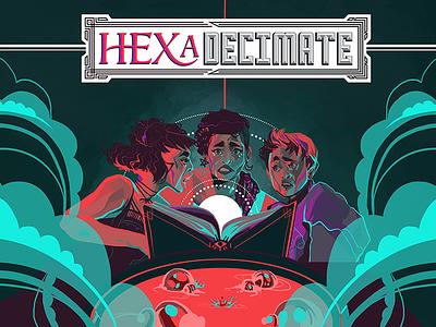 HEXaDecimate Promo card game logotype design logo