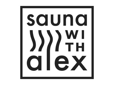 Sauna With Alex logo design logotype design typography logo