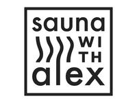 Sauna With Alex logo design
