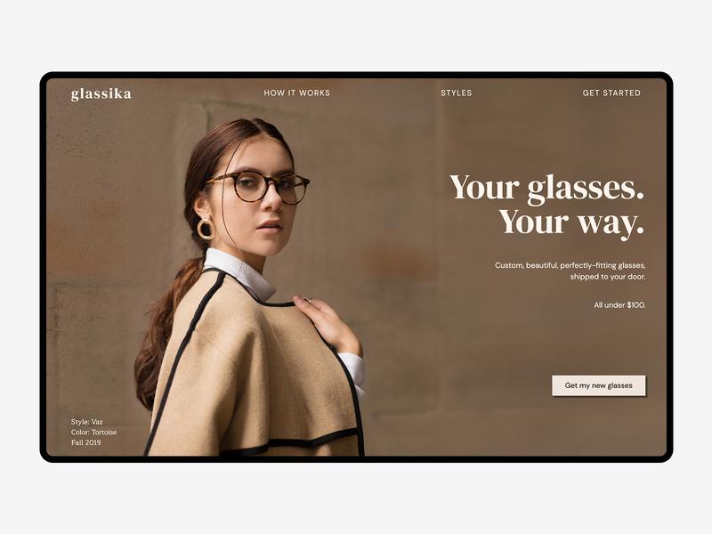 Landing Page Design — Glassika ui web design homepage branding landing page