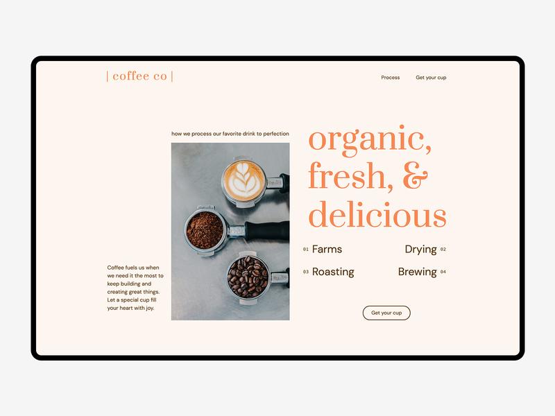Landing Page Design — Coffee Co coffee web design ui landing page homepage branding