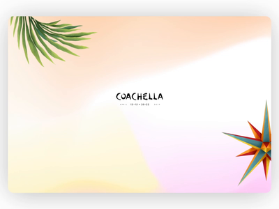 Coachella Website 2019 animations festival concert event interaction animation motion scroll transition layout landing page homepage ux ui website web