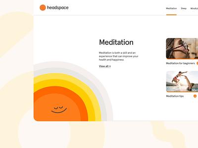 Headspace mega menu