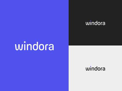 Windora | Logo Concept star clean modern startup logotype logomark door shine glass window branding logo