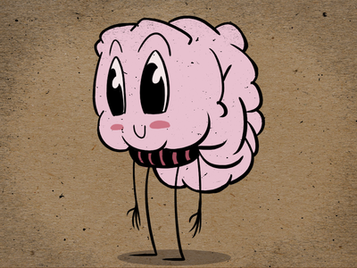 Brain animation character design brainpuke
