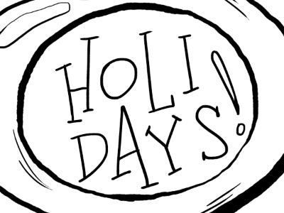 Holiday Coloring Pages coloring book illustration christmas holiday