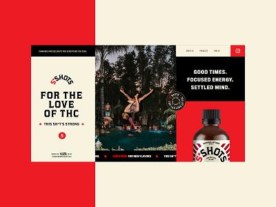 S*Shots - Homepage Website Design Concept 🔴 red thc product design typogaphy ui web graphic desgin web design design creative branding