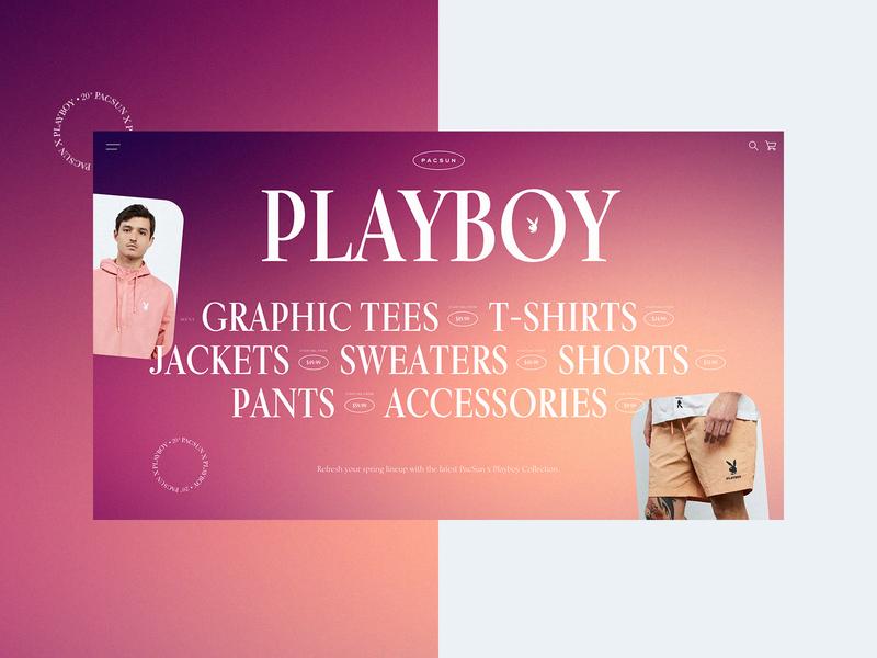 Pacsun X Playboy - Website Design Concept 👯♀️ clothing pacsun playboy product design typogaphy ui web graphic desgin web design design creative branding