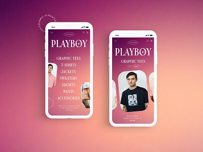Pacsun X Playboy - Mobile Design Concept 👯♀️ playboy pacsun clothing brand product design typogaphy ui web graphic desgin web design design creative branding