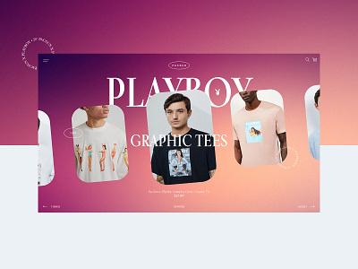 Pacsun X Playboy - Website Design Concept 👯♀️ playboy pacsun product design typogaphy ui web web design design creative branding graphic desgin
