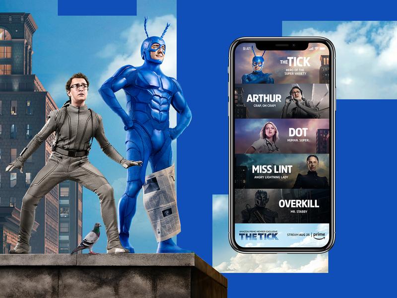 The Tick Mobile Design graphic desgin entertainment web design web ui typogaphy mockup design mobile design creative design branding