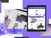 Planet X Collection Website Design