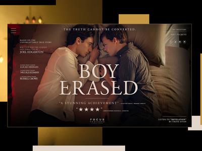 Boy Erased Website Redesign