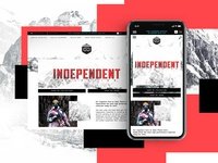 Independent Collection Website Design