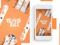 Travis Rice Collection Mobile Design