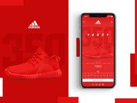 Yeezy / Adidas Website Concept Design