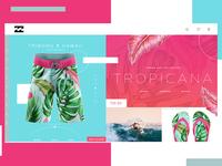 Billabong Website Concept Design