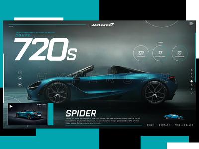 McLaren 720s Spider Website Design Concept