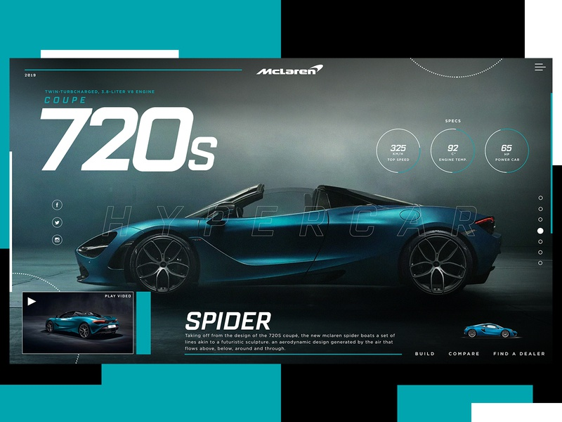 McLaren 720s Spider Website Design Concept mclaren car product design ui typogaphy web graphic desgin web design design creative branding