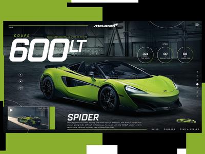 McLaren 600LT Spider Website Design Concept