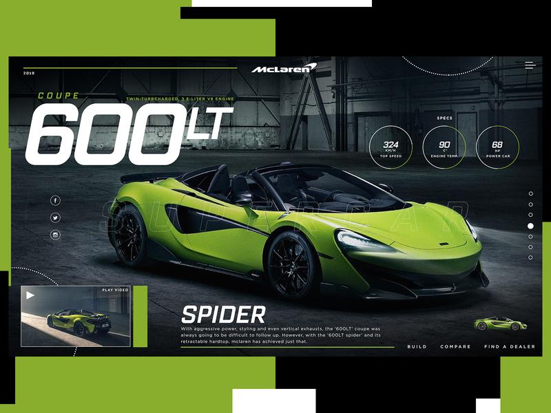 McLaren 600LT Spider Website Design Concept mclaren car product design ui typogaphy web graphic desgin web design design creative branding