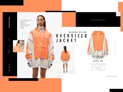 Alexander Wang Website Design Concept