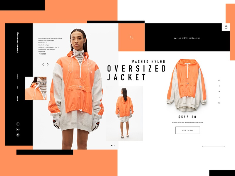 Alexander Wang Website Design Concept editoral alexander wang clothing brand product design ui typogaphy web graphic desgin web design design creative branding