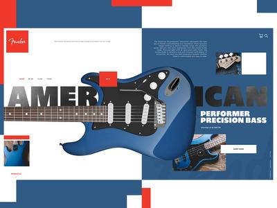 Fender Website Design Concept