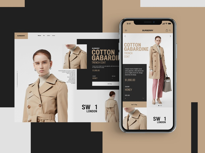 Burberry Website Design Concept burberry clothing design product design mobile design mockup design ui typogaphy web graphic desgin web design design creative branding