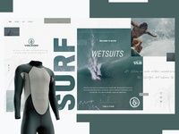 Volcom Surf Website Design Concept