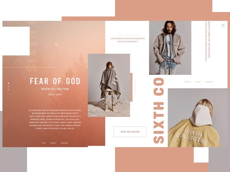 Fear Of God Sixth Collection Website Design Concept fear of god clothing brand product design ui typogaphy web graphic desgin web design design creative branding